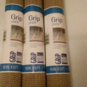 3 Rolls Thick Grip Shelf/Drawer Liners Taupe